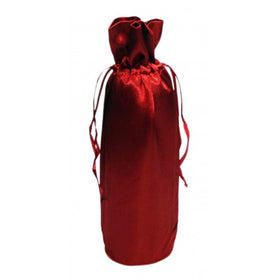 Maroon Satin Wine Bags