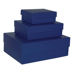 Indigo Blue Rectangle Matt Laminated Gift Boxes - 2 Pieces