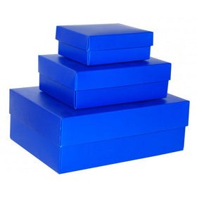 Royal Blue Rectangle Matt Laminated Gift Boxes - 2 Pieces
