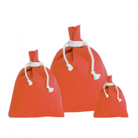 Orange Canvas Drawstring Pouch Bags