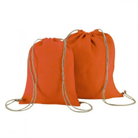 Orange Natural Jute Backpack Bags