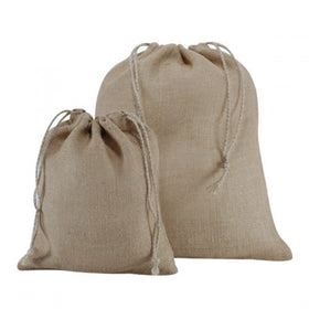 Plain Natural Jute Drawstring Bags