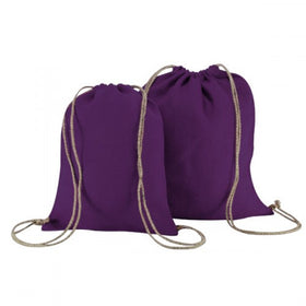 Purple Natural Jute Backpack Bags