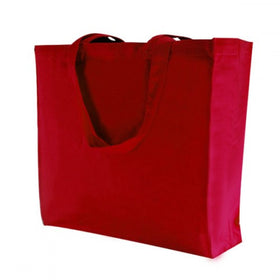 Red Canvas Gusset Bags