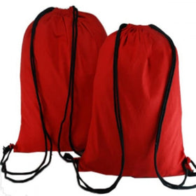 Red Natural Cotton Backpack Bags