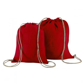 Red Natural Jute Backpack Bags