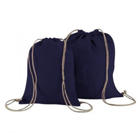 Royal Blue Natural Jute Backpack Bags