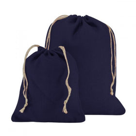 Royal Blue Natural Jute Drawstring Bags