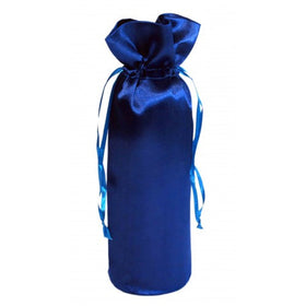 Royal Blue Satin Wine Bags