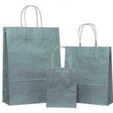 Silver Carrier Bag Twisted Handle