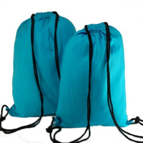Turquoise Blue Natural Cotton Backpack Bags