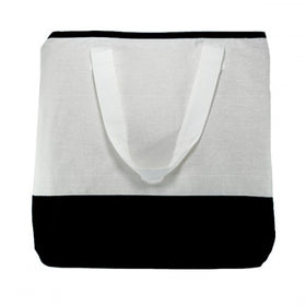 White Black Natural Cotton Dualtone Bags