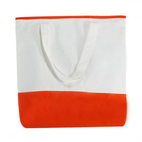 White Orange Canvas Dualtone Bags