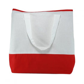 White Red Natural Cotton Dualtone Bags
