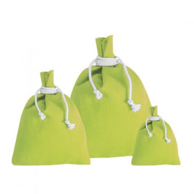 X Mas Green Canvas Drawstring Pouch Bags