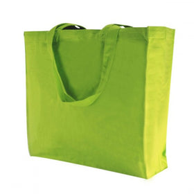 X Mas Green Canvas Gusset Bags