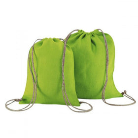 X Mas Green Natural Jute Backpack Bags