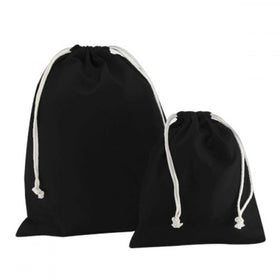 Black Canvas Drawstring Bags