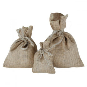 Natural Jute Drawstring Pouch Bags
