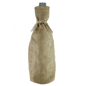 Natural Jute Wine Drawstring Pouch Bags