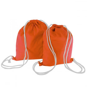 Orange Canvas Backpack Bags