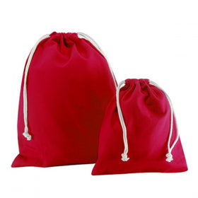 Red Canvas Drawstring Bags