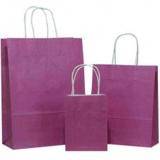 Solid Purple Carrier Bag Twisted Handle