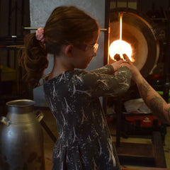 Glassblowing girl