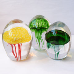 sculpted glass jellyfish by Art by Fire