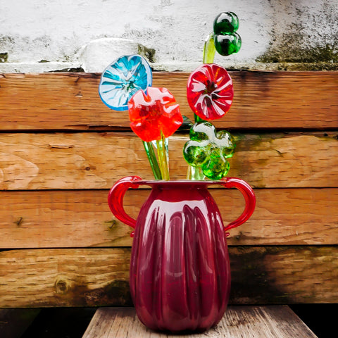 Sculpted glass flowers and shamrocks - make your own!