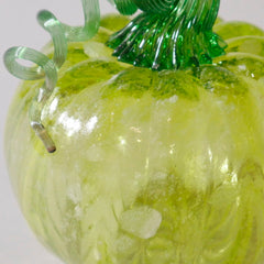 Blown glass Willow Pumpkin with Glow in the Dark in daylight