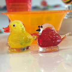 glass duck and bird