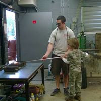 Glassblowing at age 5