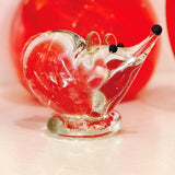 sculpted glass mouse