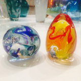 Glass paperweights - round or egg