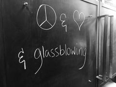 Giving back - peace and love and glassblowing