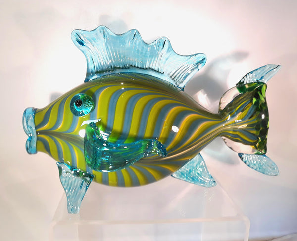 "Hand Blown Glass Fish:  ""Aruba"""