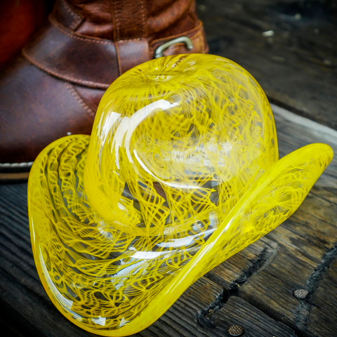 "Blown Glass Cowboy Hat:  ""Buckaroo"""