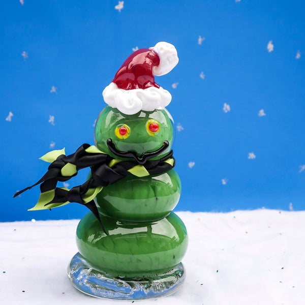 Hand Blown Glass Grinch figurine.