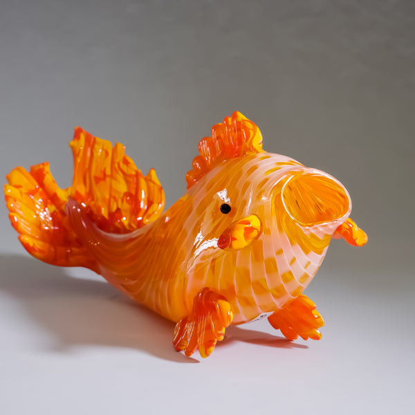 "Blown Glass Koi fish. ""Kaen"" - Signed by Artist."