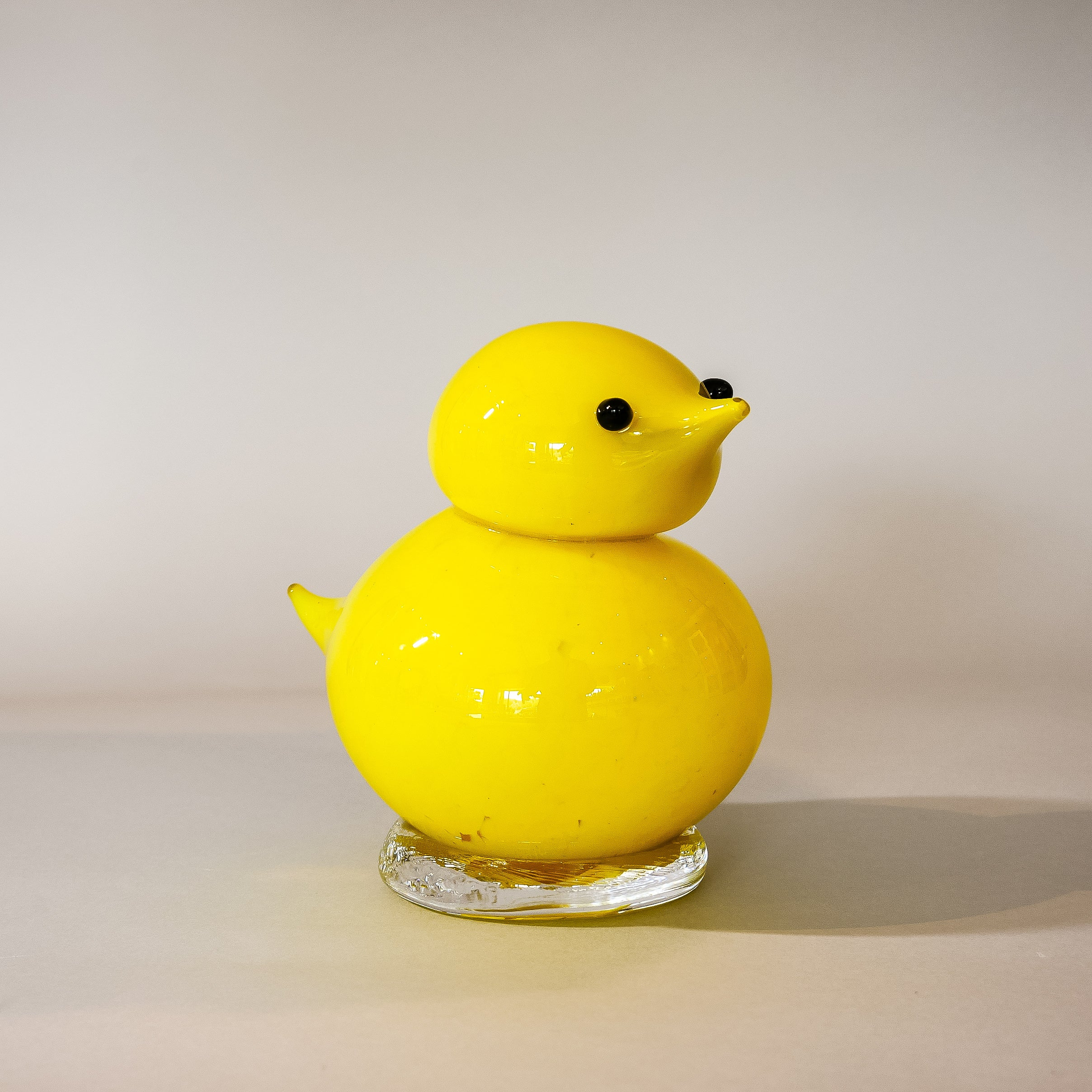 Large Handmade Glass Peeps:  Yellow