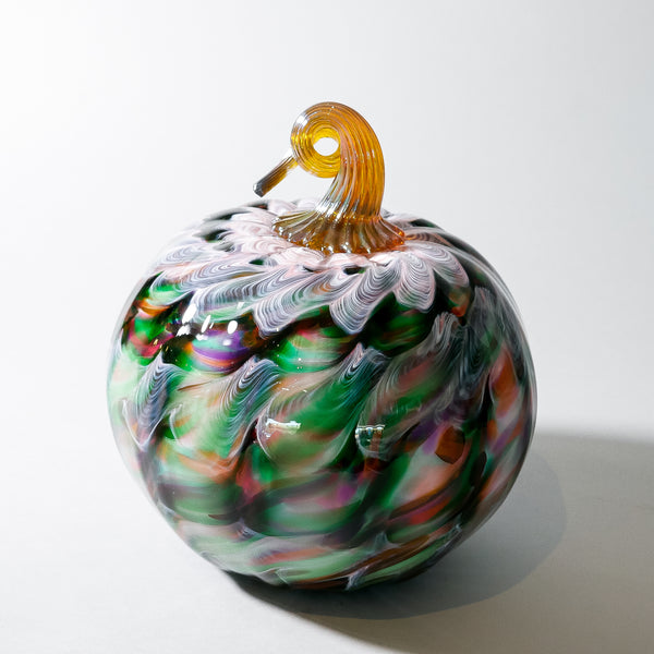 "Large Blown Glass Pumpkin:  ""Italy"""