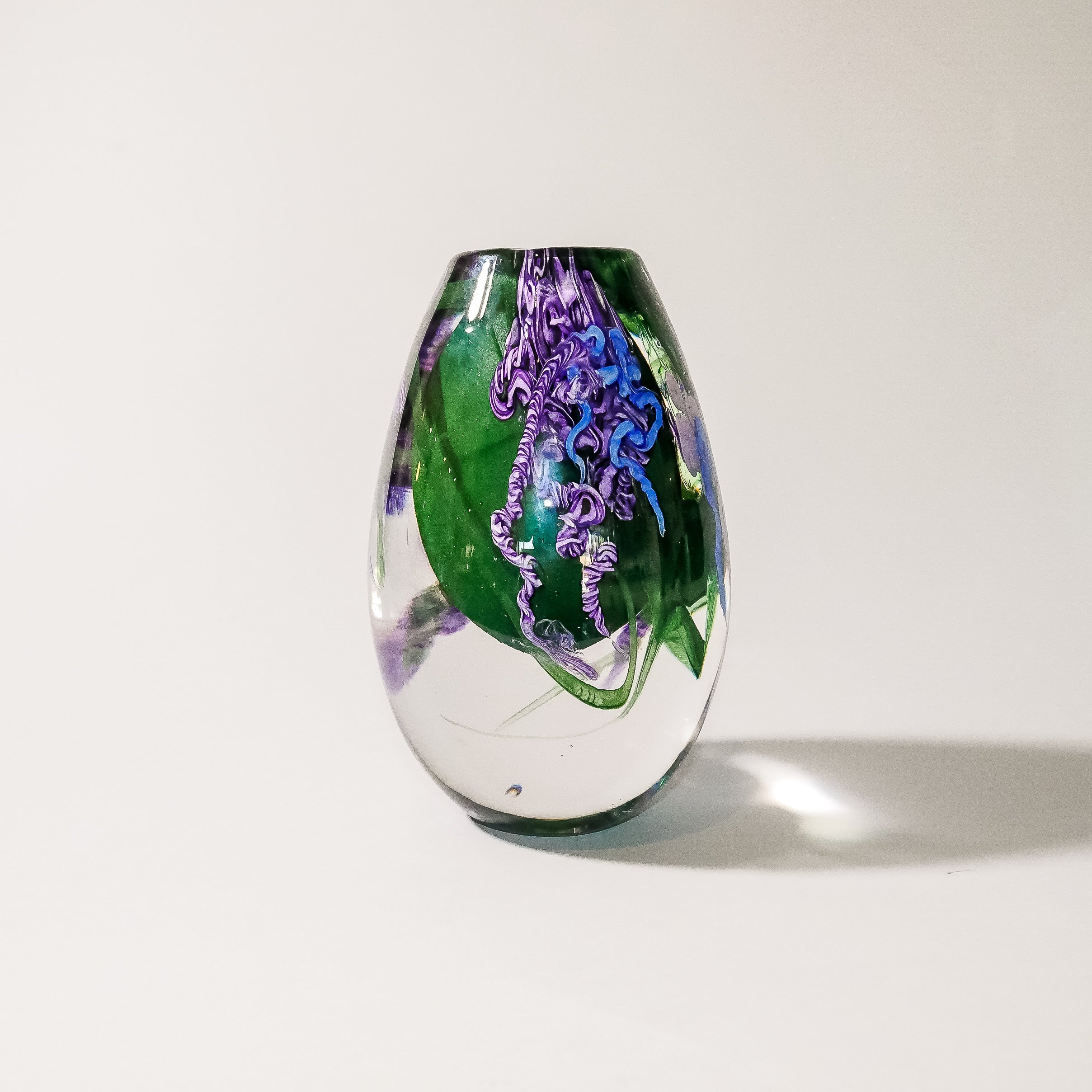 "Decorative Paperweight Vase:  ""Clematis"""