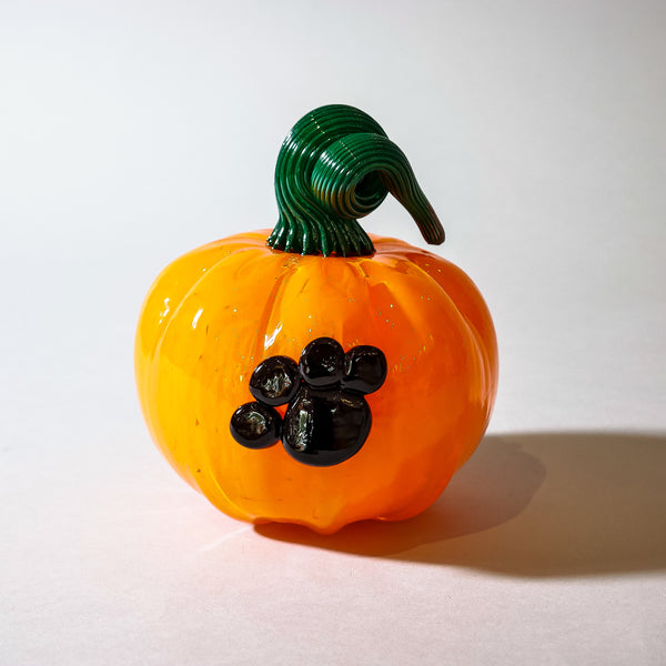 "Blown Halloween Pumpkin:  ""Puppy Love"""