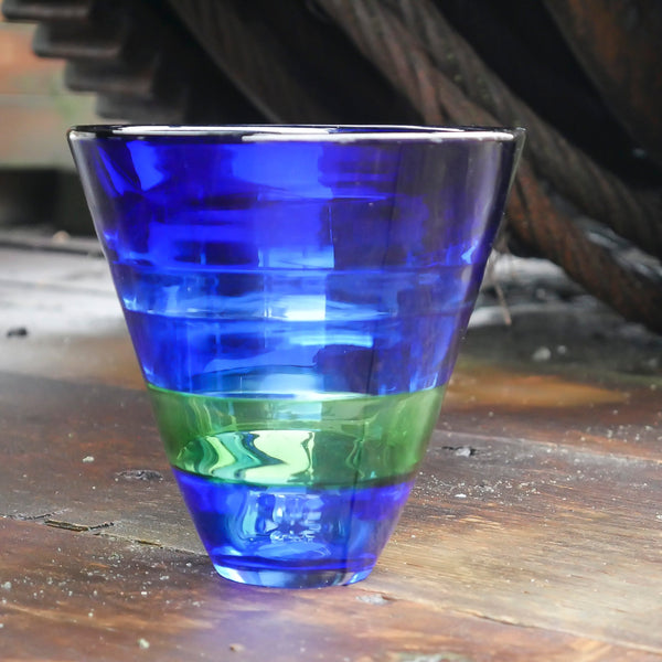 "Blown Glass Tapered Incalmo Vase: ""Northwest Home"""