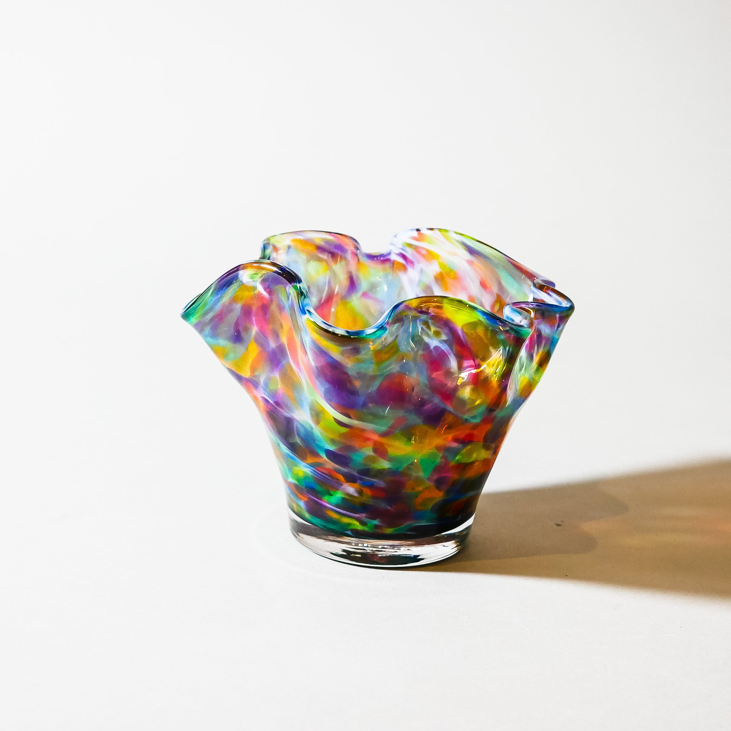 "Small Blown Glass Bowl:  ""Fusion"""