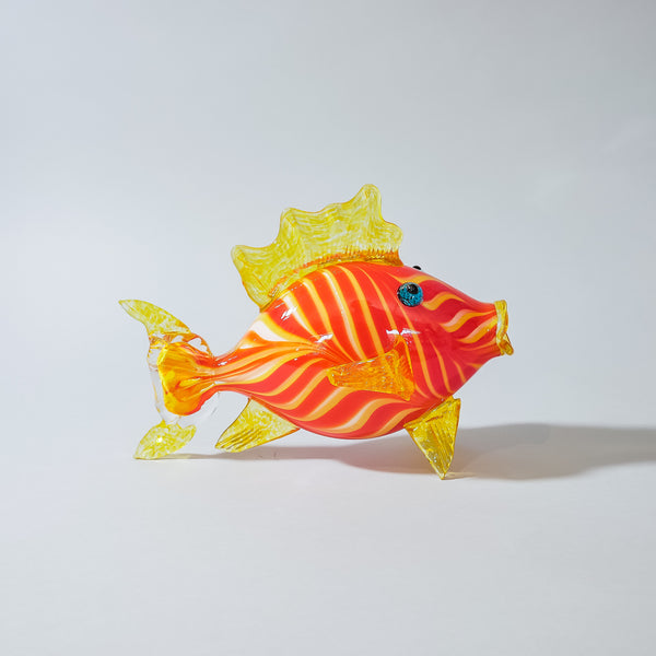 "Hand Blown Glass Fish:  ""Piper"""