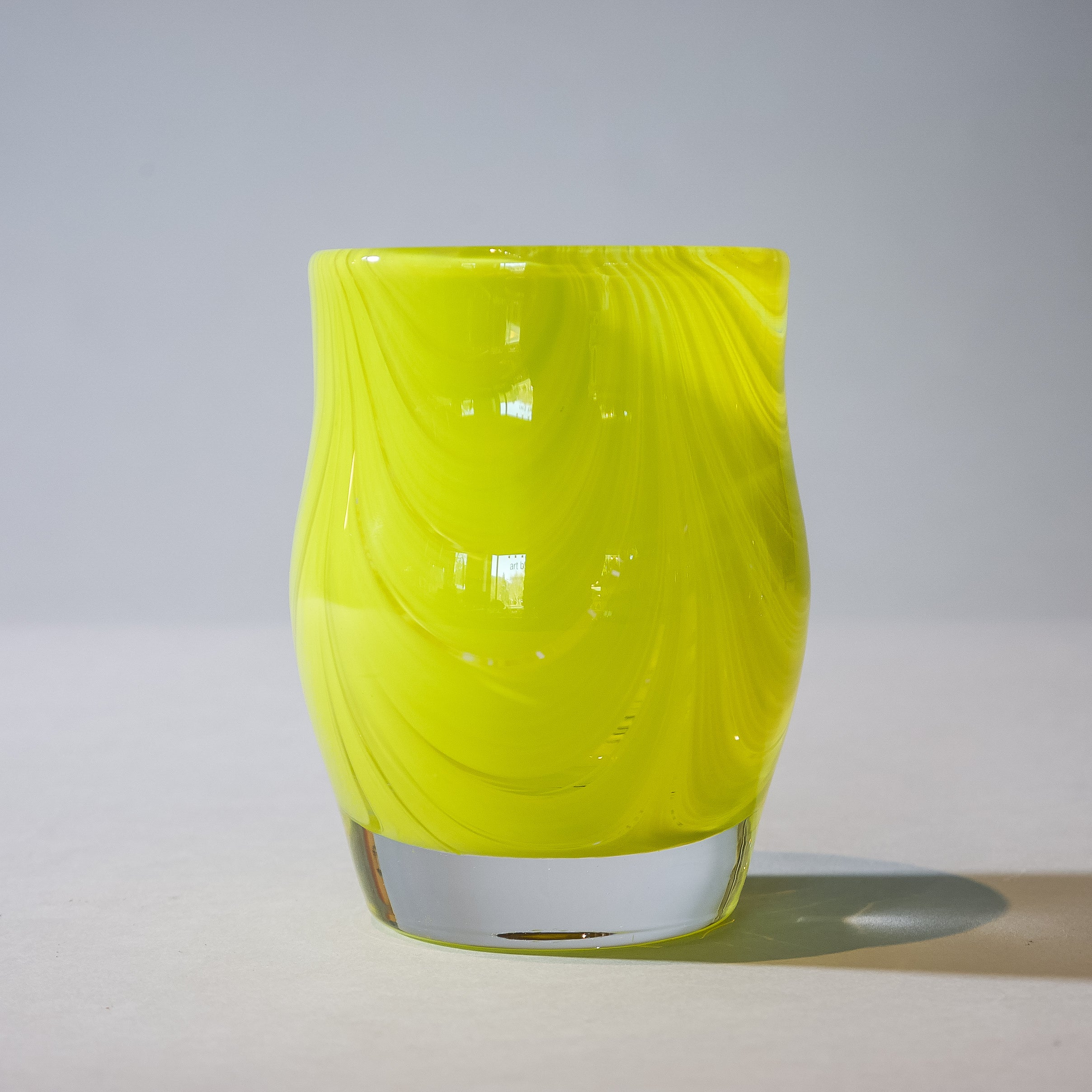 Small Blown Votive: Lemon Yellow