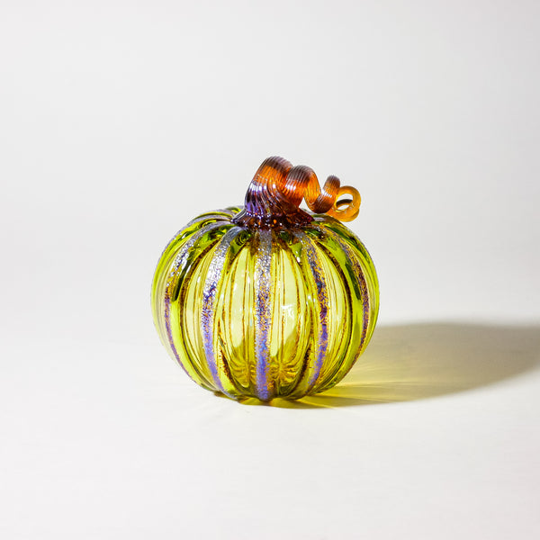 "Blown Glass Pumpkin:  ""Goldie"""