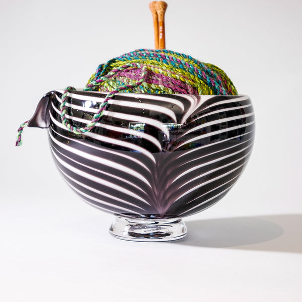 "Blown Glass Yarn Bowl:  ""Sparrow """